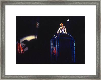 Framed Print featuring the photograph David Bowie Diamond by Sue Halstenberg