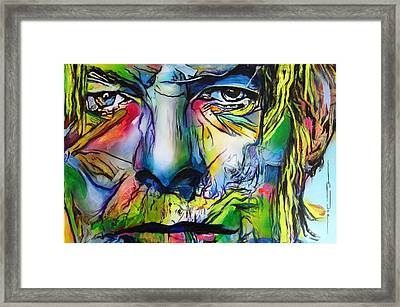 Framed Print featuring the painting David Bowie by Eric Dee