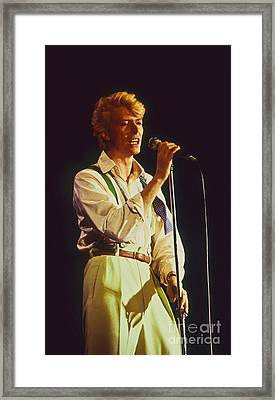David Bowie Hot Pants Framed Print by Philippe Taka