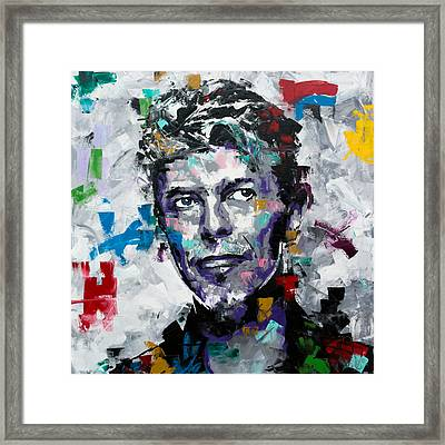 Framed Print featuring the painting David Bowie II by Richard Day