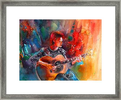 David Bowie In Space Oddity Framed Print by Miki De Goodaboom