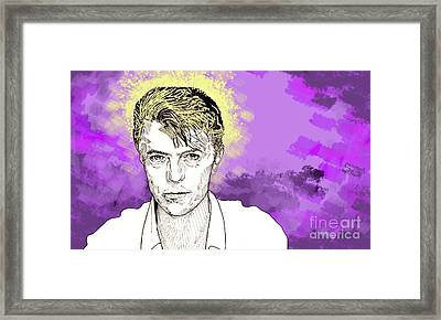 David Bowie Framed Print by Jason Tricktop Matthews