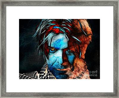 David Bowie / Keep Your 'lectric Eye On Me, Babe Framed Print by Elizabeth McTaggart