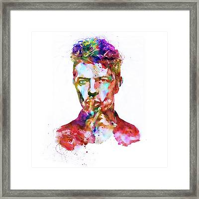 David Bowie  Framed Print by Marian Voicu
