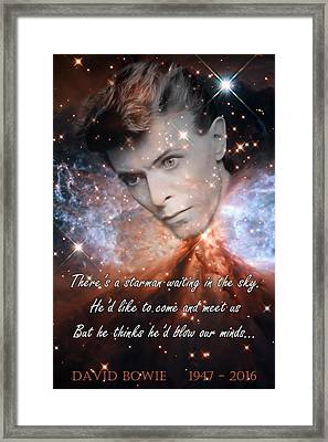 David Bowie Memorial Framed Print by Jonathan Sabin