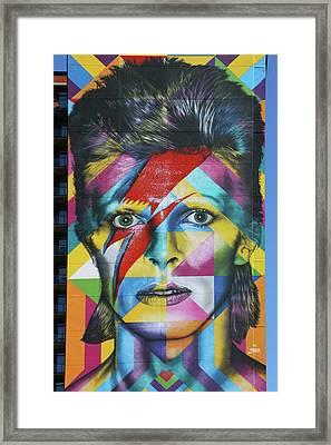 David Bowie Mural # 3 Framed Print