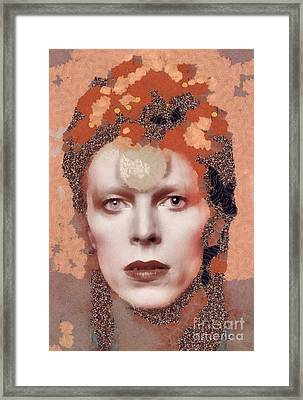 David Bowie, Music Legend Framed Print by Mary Bassett