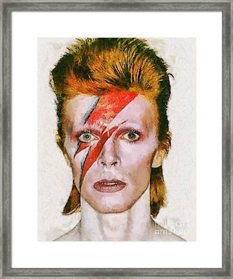 David Bowie, Music Legend Framed Print by Sarah Kirk
