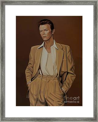 David Bowie Four Ever Framed Print by Paul Meijering