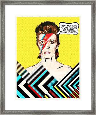 David Bowie Pop Art Framed Print by BONB Creative