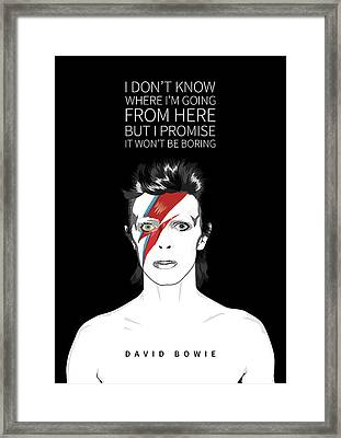 David Bowie Quote Framed Print by BONB Creative