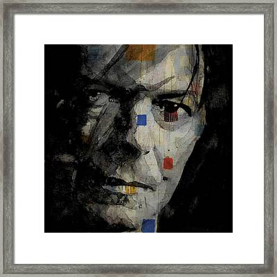 David Bowie Retro  Framed Print by Paul Lovering