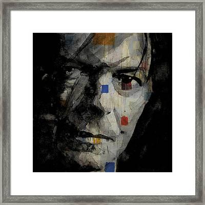David Bowie Retro  Framed Print