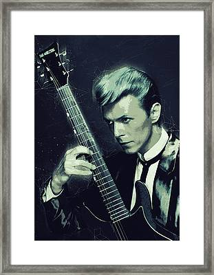 David Bowie Framed Print by Semih Yurdabak