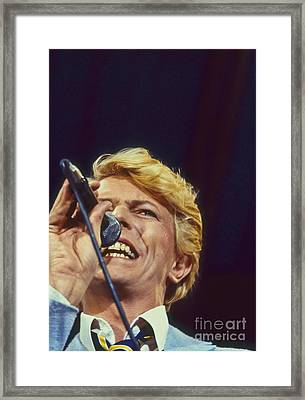 David Bowie Smiling Eye Framed Print by Philippe Taka