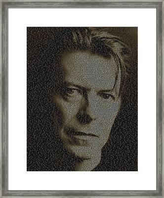 David Bowie Song List Mosaic Framed Print by Paul Van Scott