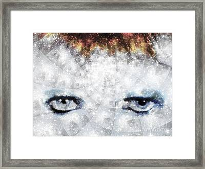 David Bowie / Stardust / Muted Colors  Framed Print by Elizabeth McTaggart