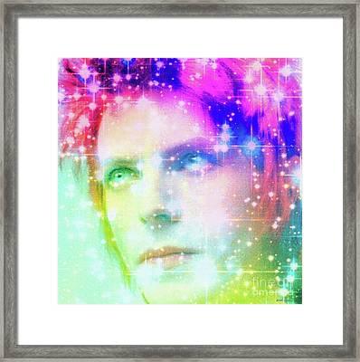 David Bowie / Starman Framed Print by Elizabeth McTaggart