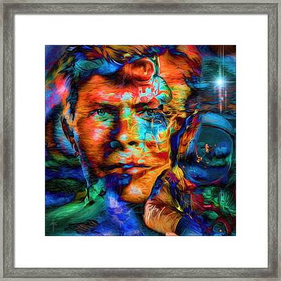 David Bowie - The Visionary Of The Future Framed Print by Daniel Arrhakis