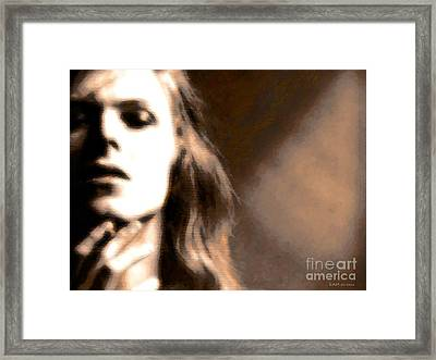 David Bowie / Through The Dream State Softly  Framed Print by Elizabeth McTaggart