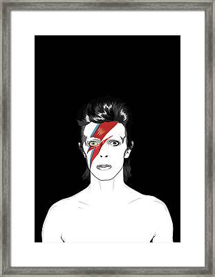 David Bowie Tribute Framed Print by BONB Creative