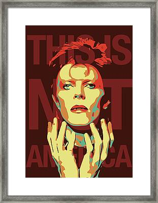 David Bowie Framed Print by Greatom London