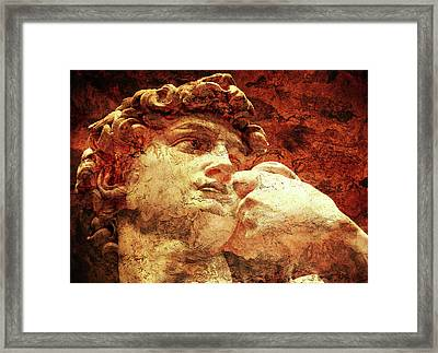 David By Michelangelo Framed Print