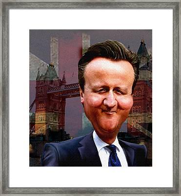 David Cameron Framed Print by Hans Neuhart