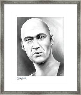 David Carradine Framed Print