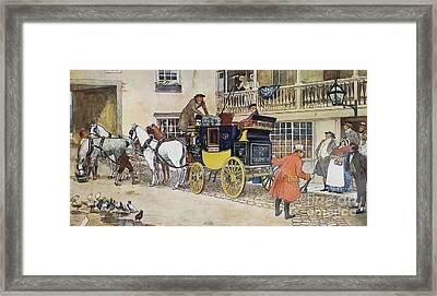 David Copperfield On His Way To School Framed Print by MotionAge Designs