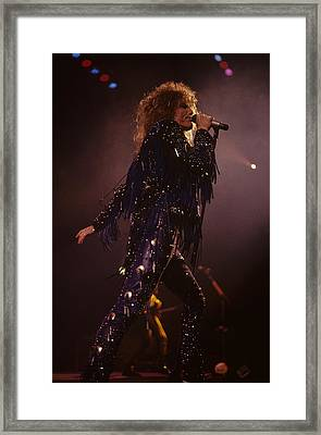 David Coverdale Of Whitesnake Framed Print by Rich Fuscia