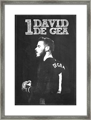 David De Gea Framed Print by Semih Yurdabak