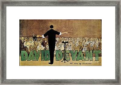 David Devant Poster C1910 Framed Print by Granger