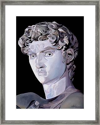 David From Michaelaangelo Framed Print by JoeRay Kelley