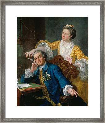 David Garrick With His Wife Eva-maria Veigel Framed Print