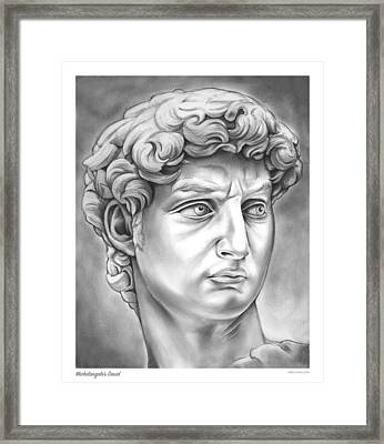 David Framed Print by Greg Joens