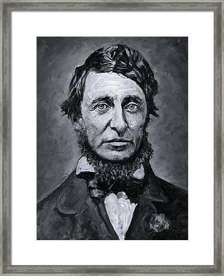David Henry Thoreau Framed Print