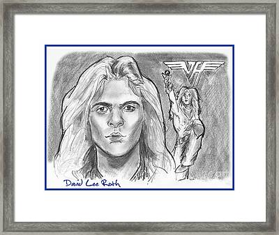 David Lee Roth Framed Print by Chris  DelVecchio