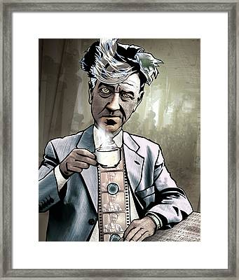 David Lynch - Strange Brew Framed Print