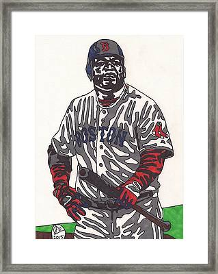 David Ortiz 1 Framed Print by Jeremiah Colley