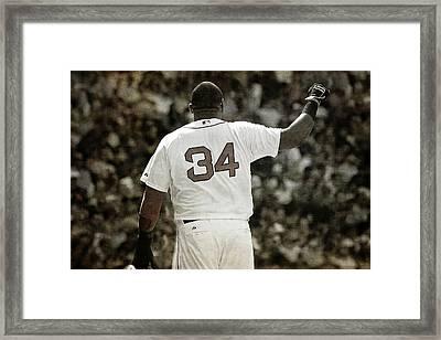 David Ortiz - Big Papi - Boston Red Sox Framed Print by Joann Vitali
