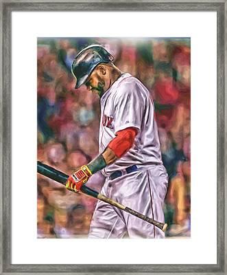 David Ortiz Boston Red Sox Oil Art 4 Framed Print by Joe Hamilton