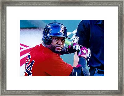 David Ortiz Framed Print