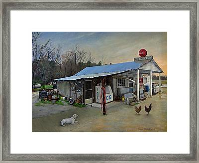 David Pace's Gro. Framed Print