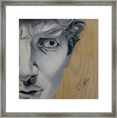 David Framed Print by Paola Tejeda