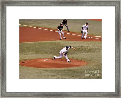 David Price - The Pitch Framed Print by John Black