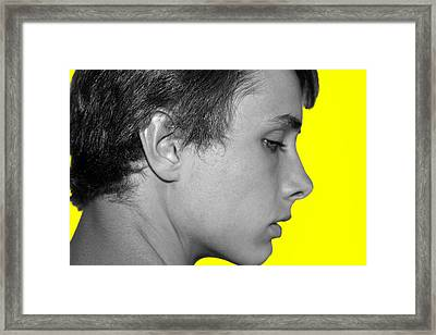 David R On Yellow Framed Print