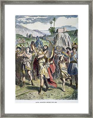 David Rejoicing At Ark Framed Print