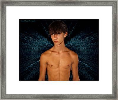 David Riedinger Blue Dragonfly Framed Print