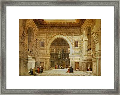 David Roberts Interior Of The Mosque Of The Sultan El Ghoree Framed Print